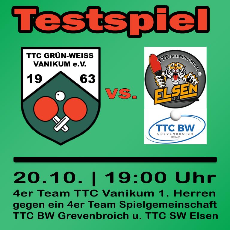 Testspiel – BW GV / SW Elsen
