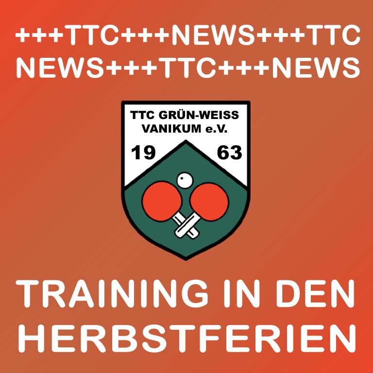 Training Herbstferien