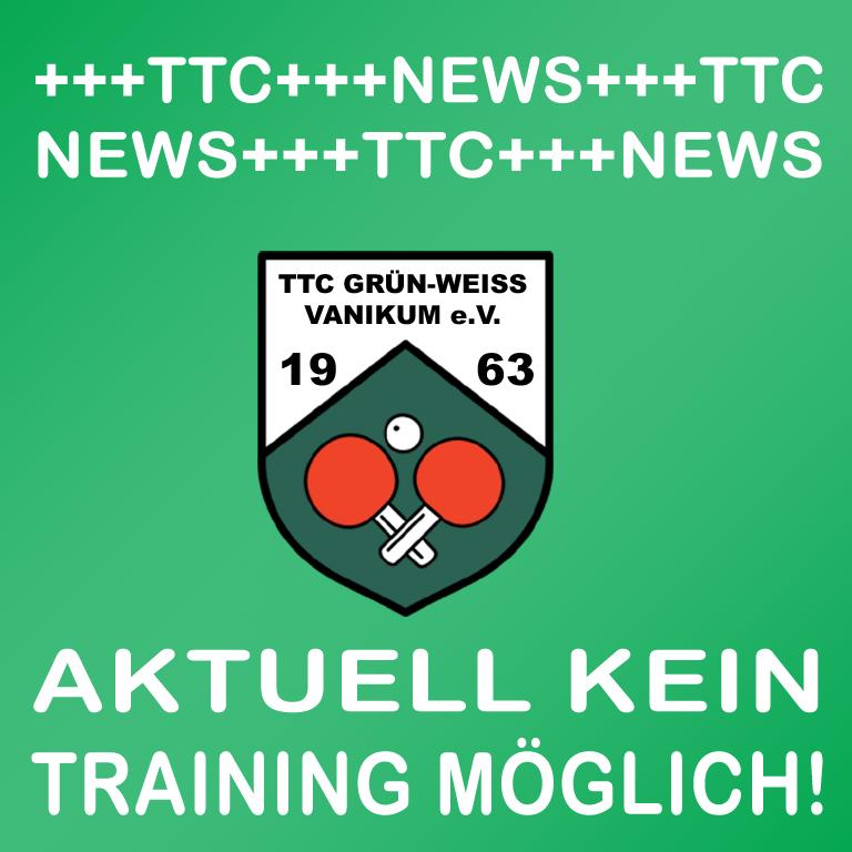 Trainingsbetrieb eingestellt!