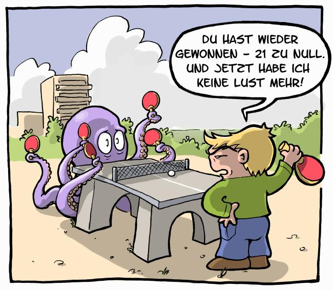 Tischtennis Cartoons
