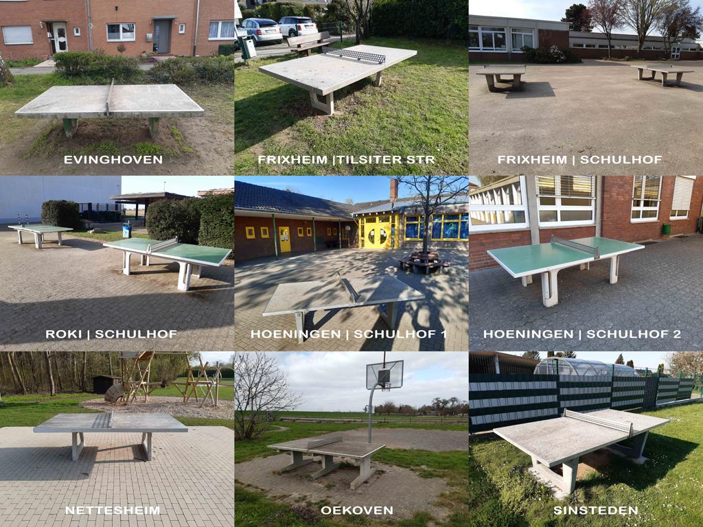 Tischtennis Outdoor   Steinplatten Guide Rommerskirchen